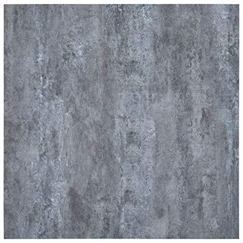 vidaXL Laminat Dielen Selbstklebend Schimmelbeständig Antiallergen Bodenbelag Vinylboden Fußboden Designboden 5,11m² PVC Grauer Marmor