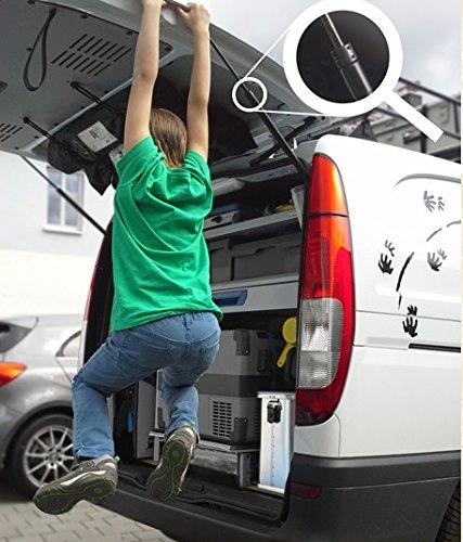 Abanico Heckdeckel Arretierungsring für Heckdeckeldämpfer Fahrradträger VW Bus T4 T5 Viano Vito V-Klasse Tourneo Transit Hyundai H1(Stahl 2Stk 8mm)