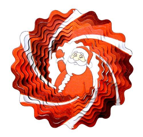 Spin Type de Carillon Christmas Santa, Rouge/Blanc, 16 x 24,5 cm, 06dsa303