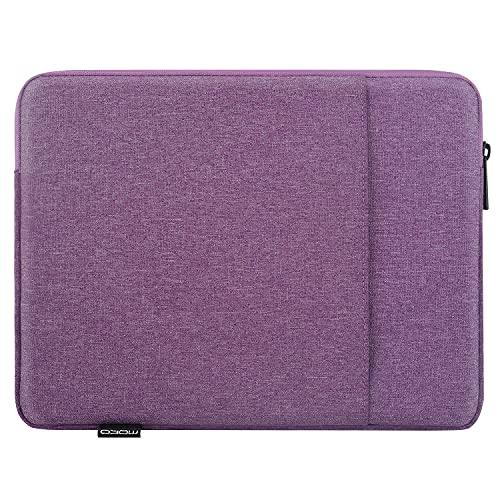MoKo Funda Protectora Compatible con iPad 8ª 10.2/9.7', iPad Pro 11 2021/2020/2018, iPad Air 4ª 10.9/3 10.5', Surface Go 2 10.5, Bolsa Multifuncional de Poliéster con Cremallera Doble, Violeta
