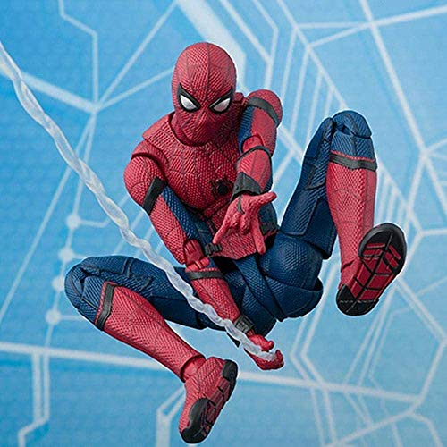 IAIZI マーベルスパイダーマンアクションフィギュア:ホームカミングスーパーヒーロースパイダーマンおもちゃ16CM - キッズ誕生日ギフトコレクション - ホーム車の装飾(色:スパイダーマン)