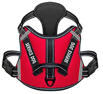Cymiler Dog Harness,No-Pull Service Dog Harness with Handle,Adjustable Comfort Pet Dog Vest Harness for Outdoor Walking,3M Reflective Vest Easy Control for Small Medium Large Breed