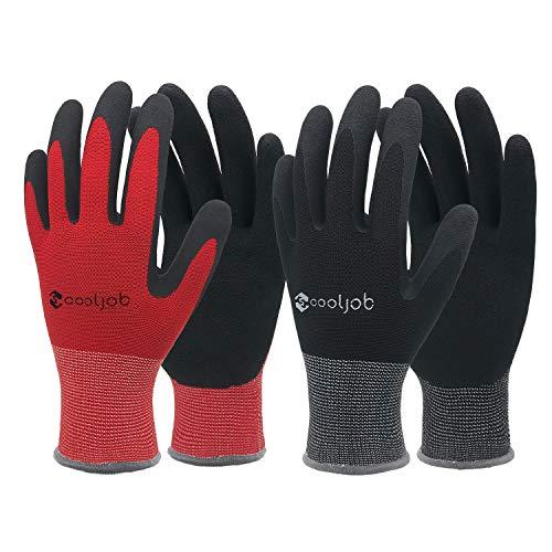 COOLJOB Gardening Gloves for Men, 6 Pairs...