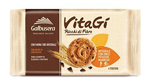 Galbusera VitaGì Frollino con Gocce di Cioccolato Ricco di Zinco, Potassio e Magnesio - Pacco da 10 x 300 g