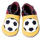 HOBEA-Germany Baby Krabbelschuhe Jungen, Modell Schuhe:Fußball, Schuhgröße:22/23 (18-24 Monate)