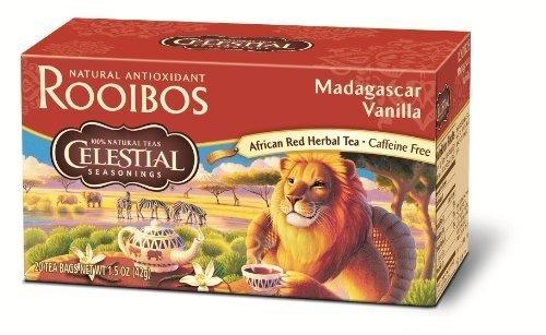Celestial Seasonings Herb Tea Madagscr Van Red 20 Bag