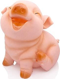 H&W Cute Pig Coin Money Bank, Shatterproof Piggy Bank for Kids, Creative Money Bank, Can Store 1000 Coins, Best Bitrthday Gift Toy, Squint Piggy (WK7-D2)