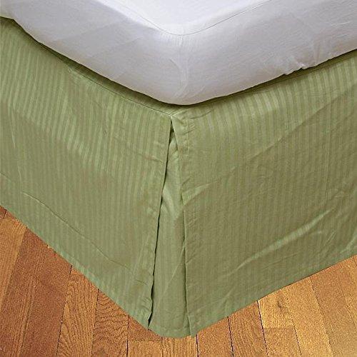 LaxLinens 200 fils/cm², 100% coton, finition élégante 1 jupe plissée de chute lit Longueur : 21 \