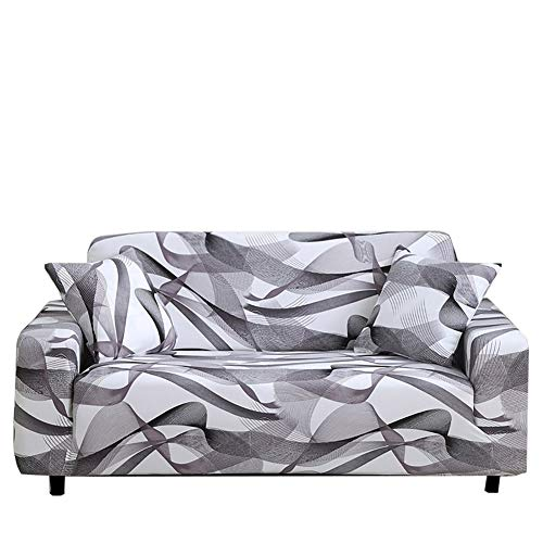 Yinnn Funda para sofá en Forma de L, Funda de sofá Cama, Protector para Sofá de Poliéster, Extraíbles y Lavables, para el salón, 3-Seater 190-230cm Line