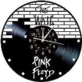XINKONG Reloj de Pared Sinosa, Decoración de la Pared del Tema Floyd Pink Reloj Grande, Regalo de Reloj de Pared Hecho a Mano Creativo, 30 cm, sin luz