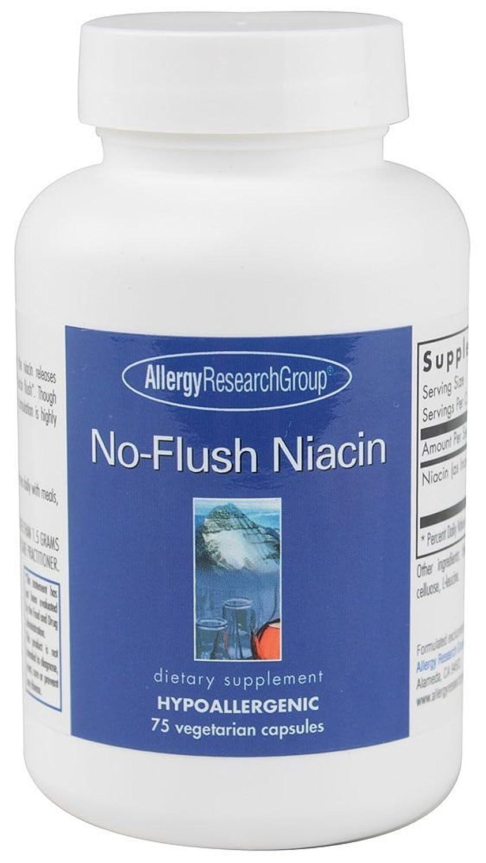規範おいしい学習者ナイアシン(ビタミンB3) ノーフラッシュ 1粒430mg入75カプセルx2セット【海外直送品】