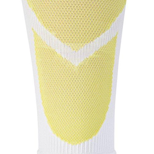 Ultrasport Kompressions-Beinlinge, Hochleistungs-Kompressions-Wadenschoner Level 23-32 mmHg: Beinstulpen für intensiven Laufsport, Weiß/Grün, 25-31 - 5