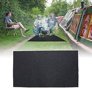 ebtools alfombra de protección de suelo barbacoa alfombra de BBQ 124x 75cm antideslizante resistente a calor para barbacoa exterior jardín terraza