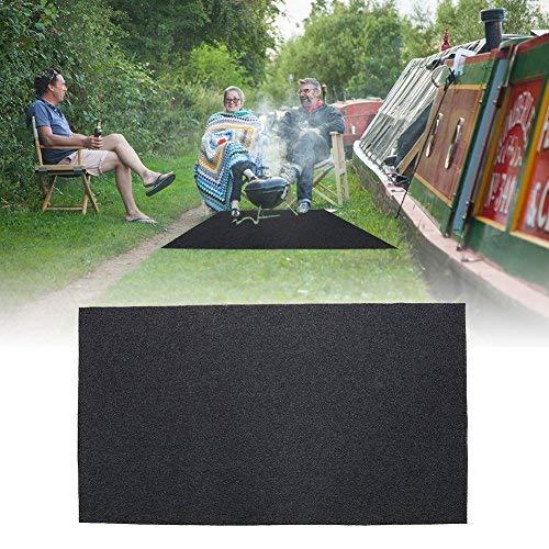 Alfombra de Protección de Suelo Barbacoa Alfombra de BBQ, 124 x 75 cm Antideslizante Resistente a Calor, para Barbacoa Exterior Jardín Terraza