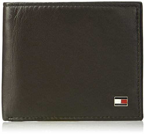 Tommy Hilfiger Men's Leather Wallet - RFID Blocking Slim Thin Bifold with Removable Card Holder and...