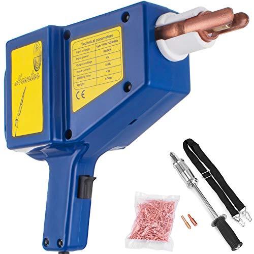 Mophorn Stud Welder Kit JO1050 Stud Welder Dent Repair Kit 800 VA Spot Welder Kit Blue 110V for Auto Body Repair