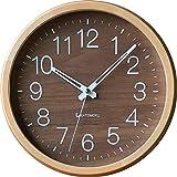KATOMOKU muku round wall clock 2 電波時計 連続秒針 km-73RC φ306mm