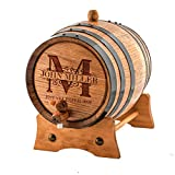 Custom Whiskey Barrel - Personalized Wine Barrel - Engraved Oak 1 Liter Barrel | Age your own Tequila, Whiskey, Rum, Bourbon, Wine