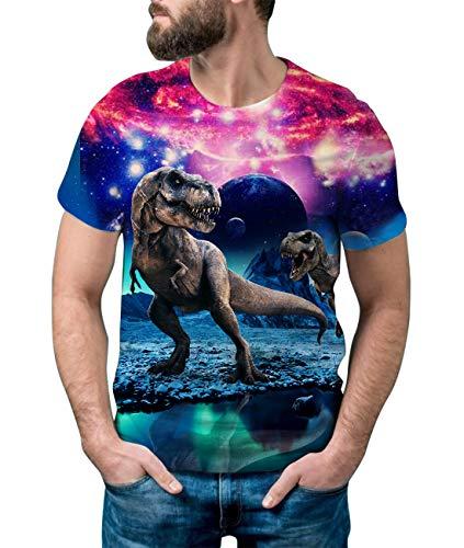 Idgreatim Teen Boys Casual 3D Printed Dinosaur Short Sleeve T-Shirt Graphic Tees