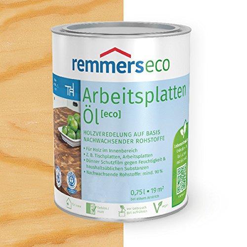 Remmers Arbeitsplatten-Öl [eco] Holzöl Holzveredelung (750 ml, farblos)