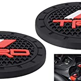 AOOOOP Car Interior Accessories for TRD PRO Cup Holder Insert Coaster - Silicone Anti Slip Cup Mat for Racing Development Sequoia Tundra Tacoma 4Runner TRD PRO (Set of 2, 2.75' Diameter)