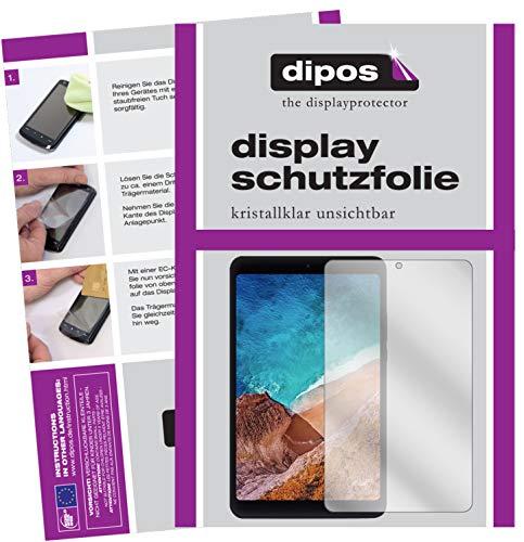 dipos I 2X Schutzfolie klar kompatibel mit Xiaomi Mi Pad 4 Folie Bildschirmschutzfolie