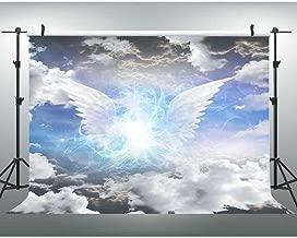 VVM 10x7ft White Clouds Backdrop Heaven Angel's Wings Photography Background Party Event Portrait Photo Shoot Props LXVV738