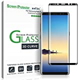 Galaxy Note 8 Screen Protector Glass, amFilm Full Coverage (3D Curved) Screen Protector