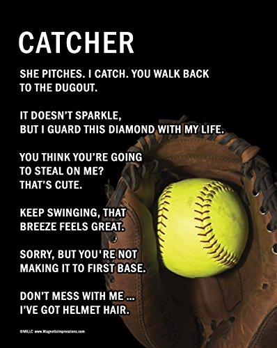 """Unframed Softball Catcher 8"""" x 10"""" Sport Poster Print"""