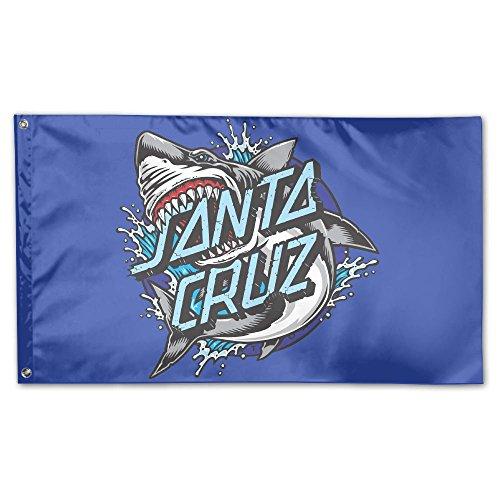INZENYN Santa Cruz Garden Flag&Decorative Flag for Wedding Home Outdoor Garden&Anniversary Home Outdoor Garden Decor 3' X 5'