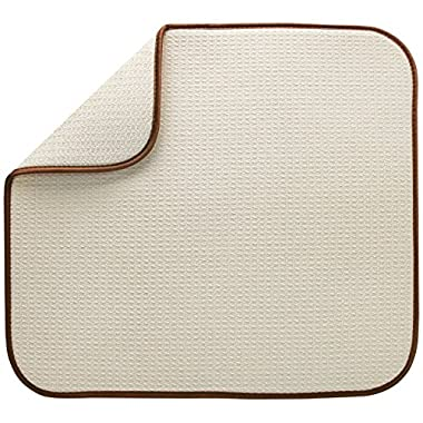 S&T Microfiber Dish Drying Mat, 16  x 18 , Cream