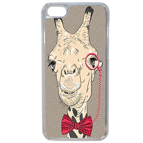 Lapinette–Cover Morbida con Motivo Giraffa Hipster per iPhone 6Plus/6S Plus