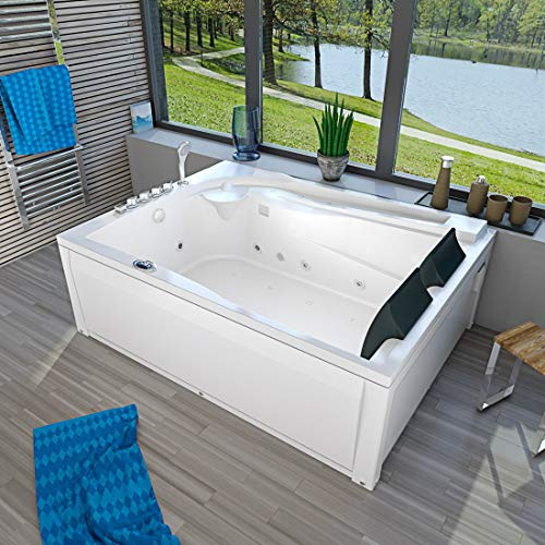 Whirlpool Pool Badewanne Eckwanne Wanne A612H-B Reinigungsfunktion 180x135, Selfclean:ohne +0.-EUR, Sonderfunktion2:Ring-Zirkulation +30.-EUR