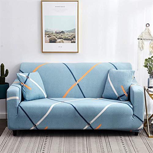 NEWRX Línea Irregular Cubierta de sofá Sofá de algodón Cubierta de sofá Elásticos Cubiertas de sofá para Sala de Estar SlegCOVERS para sillones Funda para Muebles