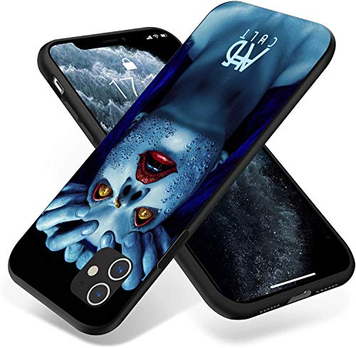 Funda de silicona compatible con iPhone 11, funda de protección completa (American-Horror-Story)