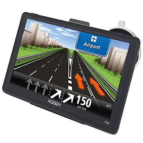 5 pollici GPS Xgody capacitivo Touch Screen navigatore satellitare con garanzia a vita di mappe UK e EU aggiornamenti limite di velocità, rosso chiaro avvertimento