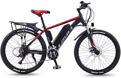 Bicicletta Elettrica, Adulti Fat Tire elettrica Mountain bike, 350W Neve biciclette, 26inch E-Bike 21 velocità Beach Cruiser Sport Mountain Bike Full Suspension, leggero telaio in lega di alluminio ,B