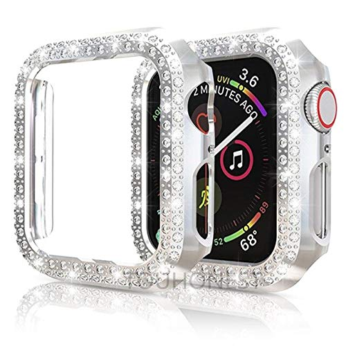 Para Iwatch 6 5 4 40 mm 44 mm cubierta reloj diamante parachoques caso protector para Apple Watch Series 6 SE 5 4 3 2 1 38mm 42mm