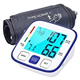 Blood Pressure Monitor, Automatic Upper Arm BP Machine, Digital Adjustable BP Cuff Kit for Home Use, Large Display with 240 Sets Memory, Includes Batteries and Carrying bag