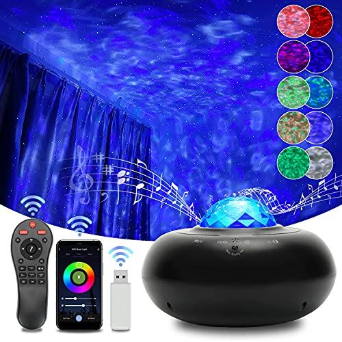LED Alexa Sternenhimmel Projektor Smart WIFI Galaxy Light mit Voice Kontrolle Bluetooth Timer und Fernbedienung, Sternenlicht Projektor Kompatibel Alexa Google Assistant für Kinder und Erwachsene