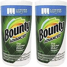 Bounty Advanced Select A-Size, Longer Sheet 11 x 7.1 Inch, White 2 Rolls Pack(220 Sheets)