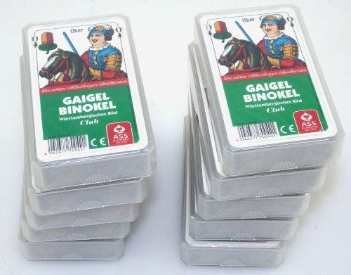Ass Altenburger 22570042 würtemmbergisches Bild Gaigel Binokel Spielkarten, Bunt, 56 x 100 mm