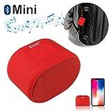 Beisk Mini Altavoz Bluetooth Portatiles con 8-10 Horas de Reproducción,TWS,Ideal para Senderismo, Playa, Viaje, Fiesta, Color Rojo