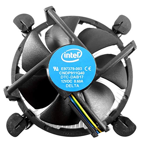CPU Cooler with Aluminum Heatsink & 4-Pin PWM 3.5-Inch Fan with Pre-Applied TRONSTORE Thermal Paste for Intel Core i3 i5 i7 Socket 1151 1150 1155 1156 Desktop PC Computer (TS2)
