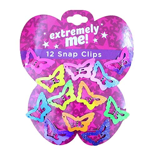 Letaowl Horquilla Hermosos niños Pentagrama Clips de Pelo Glitter BB Clips Butterfly Colors 12 PCS Niños Niños Color Asintótico Color Color Star Chicas (Color : Butterfly)