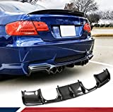JC SPORTLINE Carbon Fiber Rear Diffuser fits for BMW 3 Series E92 E93 M3 2Door 2008-2013 Custom Parts Bumper Cover Lower Lip Spoiler Valance Protector Body Kits Factory Outlet