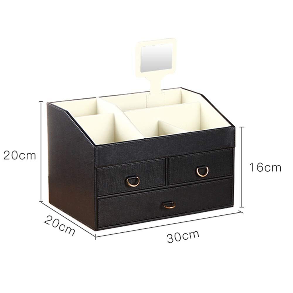 Caja para Joyas, para Pendientes, Pulseras, Anillo Joyería Organizador con cajón espejo joyería caja de regalo de bodas regalo de cumpleaños caja de almacenamiento recorrido de la caja para mujeres y: Amazon.es: