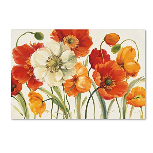 "Poppies Melody I Wall Decor by Lisa Audit, 16"" x 24"" Canvas Wall Art"