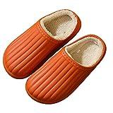 YWSZJ Zapatillas de casa Antideslizantes Impermeables para Mujer Zapatillas de Invierno para Interiores Zapatos de algodón para Mujer Zapatos Suaves de Fondo Grueso (Size : Caramel Color 36-37)