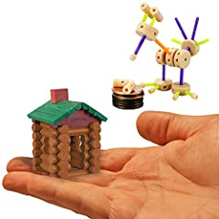 "Set Includes 2 World's Smallest Toy Sets Tinkertoy - Includes 66 Pieces, Instructions, and Case. Case Measures 3.5"" Tall Lincoln Logs - Includes 49 Pieces, Instructions, and Container. Container Measures 3.5"" Tall Ages 6+ Great Stocking Stuffer or Pa..."